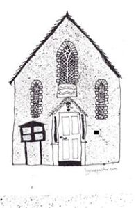 Lynne Pardoe's line drawing of the Methodist Chapel