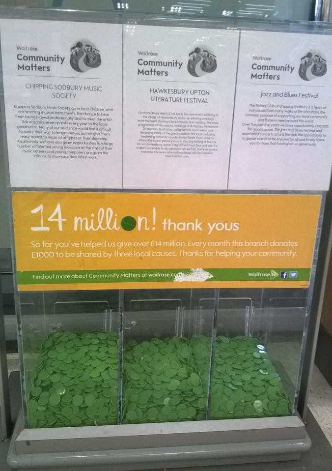 Collecting box in Waitrose