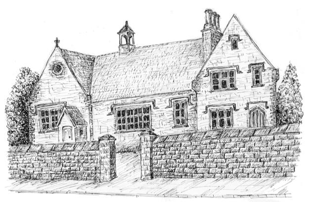 line drawing of Hawkesbury Primary School