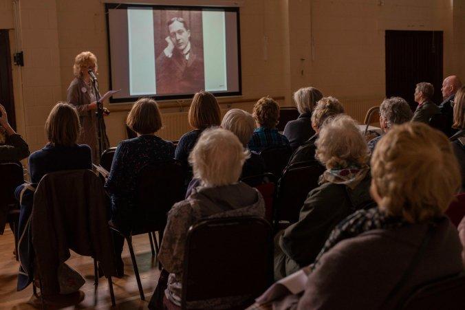 photo of Gerri Kimber addressing the audience