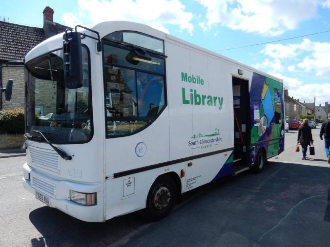 photo of South Gloucestershire mobile library van