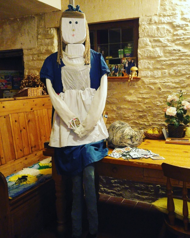 photo of Alice in Wonderland scarecrow