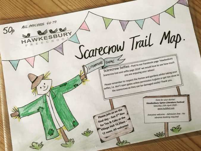 picture of scarecrow trail flyer - front side