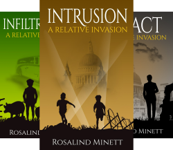 image of covers of Rosalind Minett's trilogy